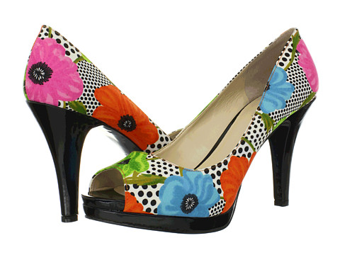flower print shoes