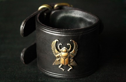 etsy leather cuff