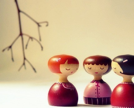 wood art dolls